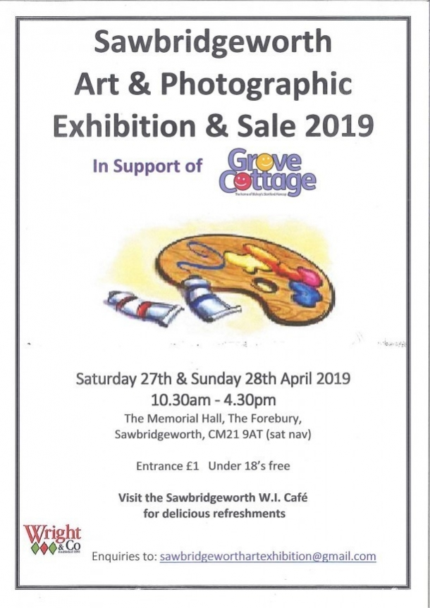 Sawbridgeworth Art & Photographic Exhibition & Sale 2019