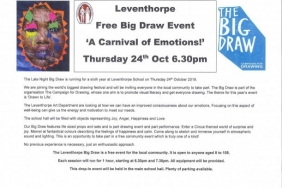 Leventhorpe Free Big Draw Event 'A Carnival of Emotions!'