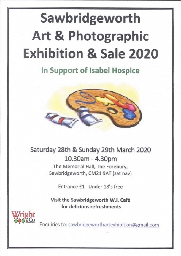 Sawbridgeworth Art & Photographic Exhibition & Sale 2020