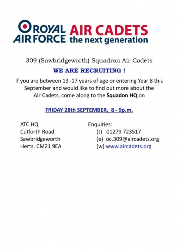 Air cadets - new recruit evening
