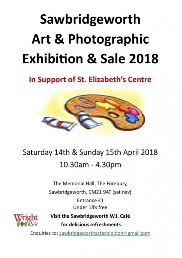 Sawbridgeworth Art Exhibition 14th 15th April