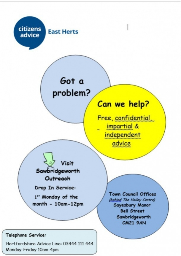 East Herts Citizens Advice Service - Sawbridgeworth Drop - In