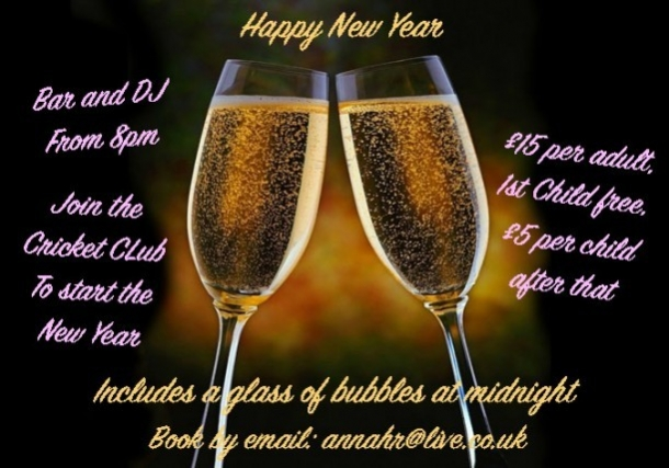 Sawbridgeworth Cricket Club New Year's Eve