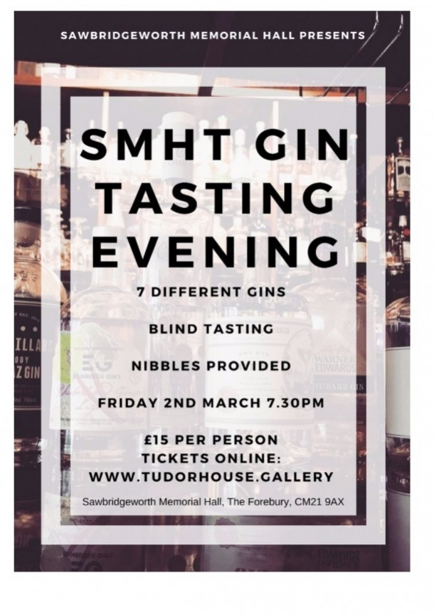 Gin Tasting at Sawbridgeworth Memorial Hall