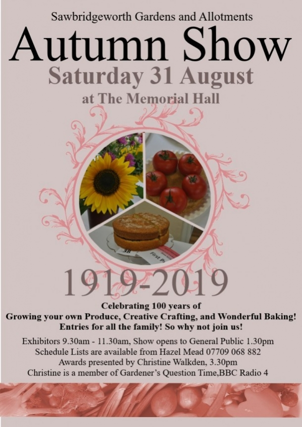 Sawbridgeworth Gardens and Allotments Autumn Show 2019