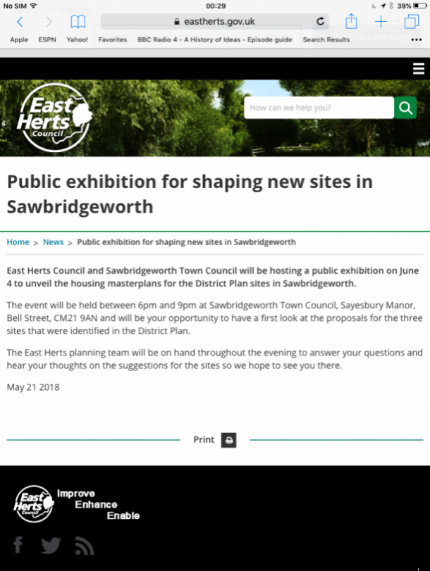 Public Consultation Shaping Sawbridgeworth