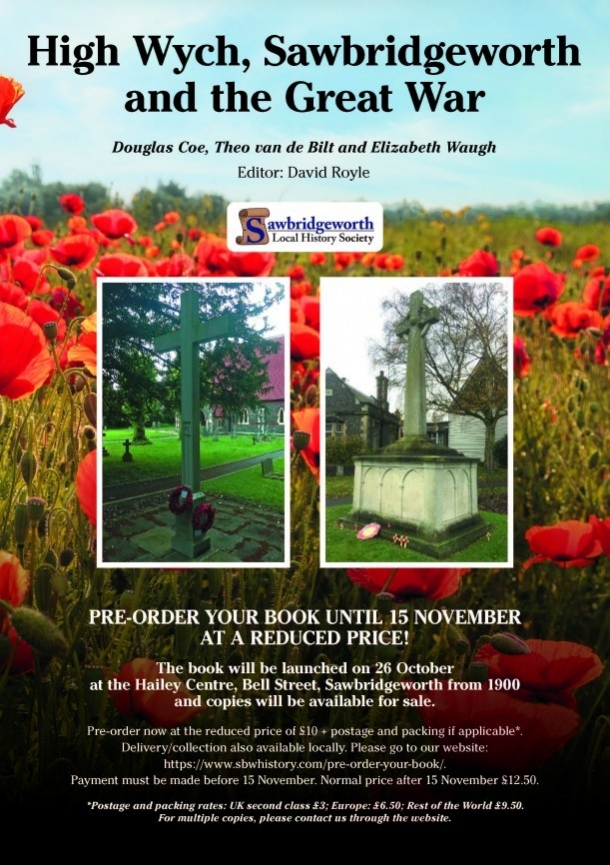 High Wych Sawbridgeworth & the Great War - Book Launch
