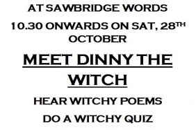 Sawbridgewords - Halloween Fun with Dinny The Witch