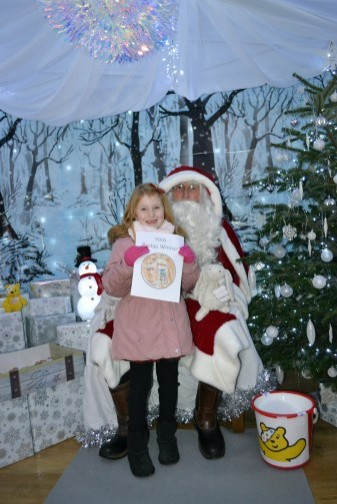 Our 2018 Badge Winner meets Father Christmas