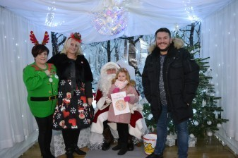 Grotto helpers and Richie Firth join in the fun